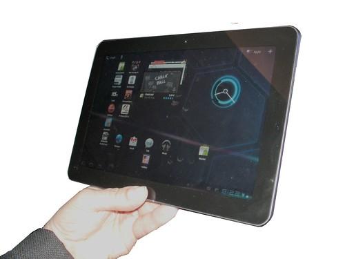 Samsung Galaxy Tab 10.1 home menu