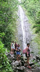 Hiking at Manoa Falls