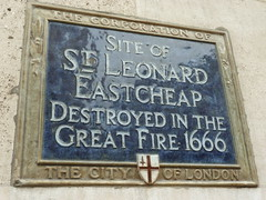 Photo of St Leonard, Eastcheap blue plaque