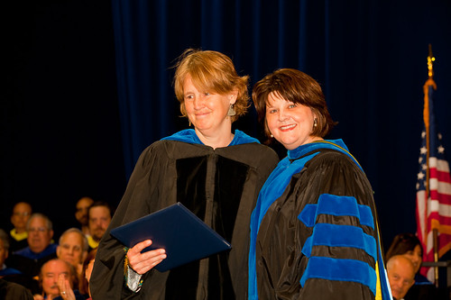Associate Professor of English Jill Jones and Interim Provost Laurie Joyner