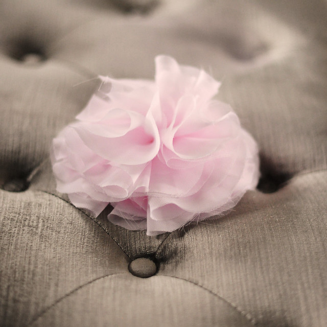 Chiffon Flower pin  accessory DIY