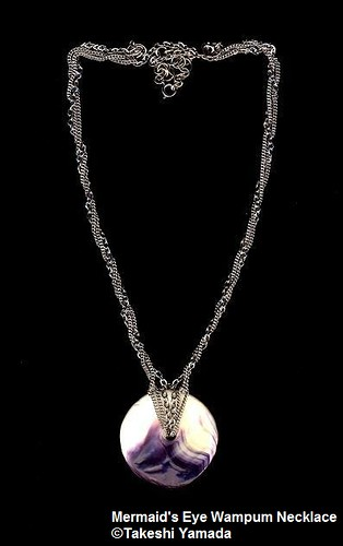 Wampum Mermaid's Eye Disc Meditation Jewelry Necklace