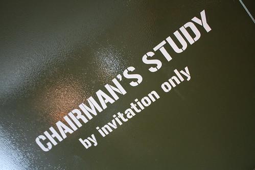 Chairman's Study door