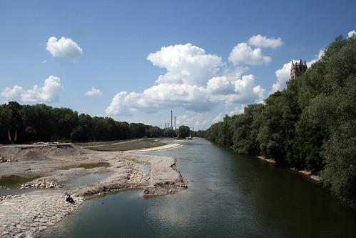 Blick von der Brücke an der Reichenbacher  Strasse