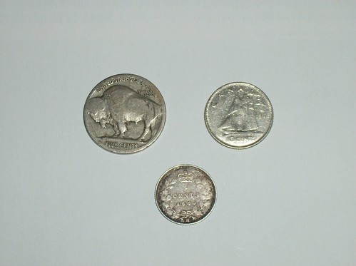 Old coins: back