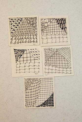 Zentangle 101 Class Work - Tile 2