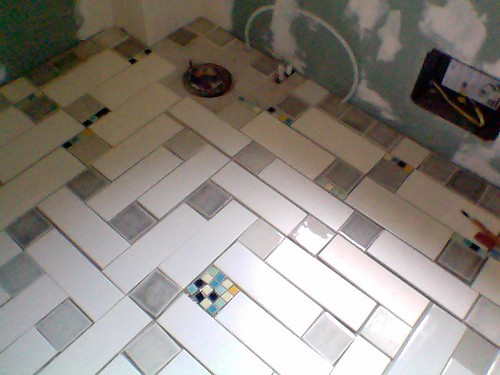 the layout for my bathroom floor, executed around 1 a.m., may 28