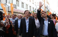 Pedro Passos Coelho na arruada de Coimbra