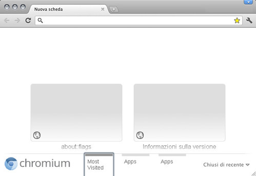 Experimental New Tab - Chromium 13.0.783.0 (87518)