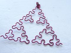 Sierpinski Arrowhead fractal pendant (DragonNerd) Tags: nerd necklace wire forsale geek handmade geometry jewelry math fractal etsy arrowhead geeky nerdy sierpinski