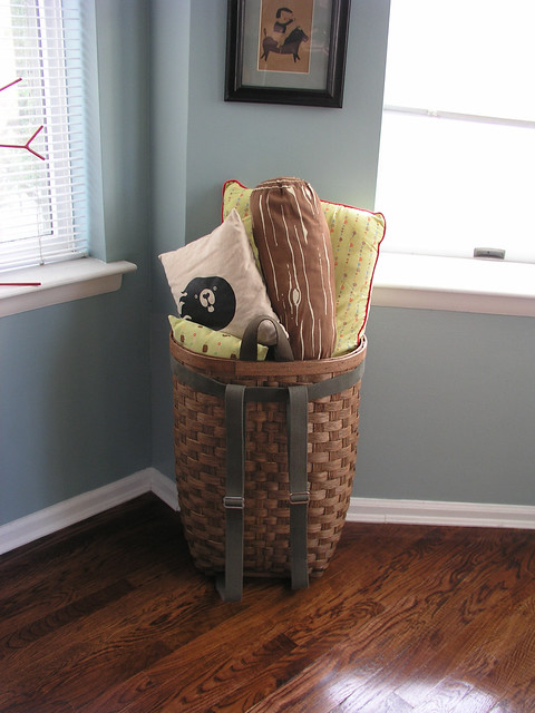 pillow and blanket basket