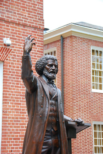 The Douglass statue unveiled. Source: Benjamin Skolnik