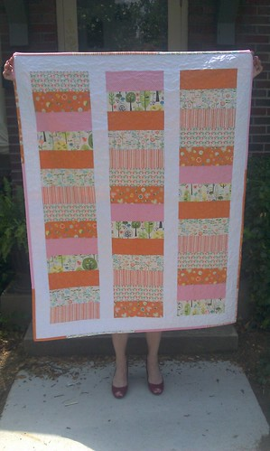 baby quilt front by valerie-in-wonderland