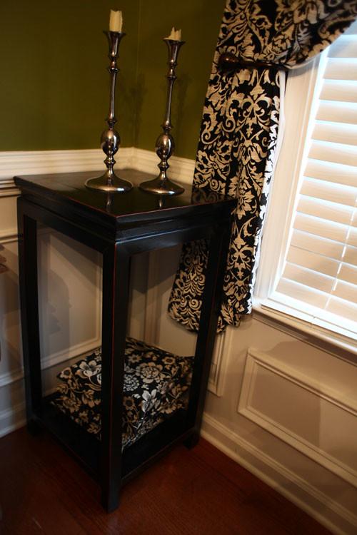 Black/Dark Wood Side Table #1