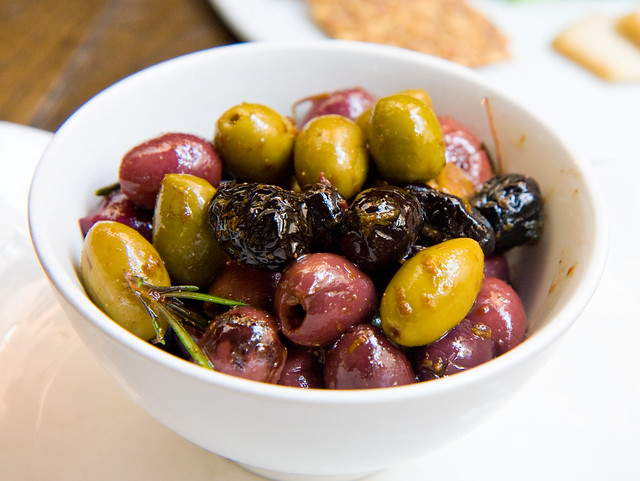 Olives with fennel and orange, Pure Food and Wine