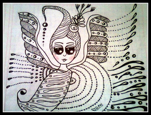 ZENTANGLE ANGEL DE LUZ by *♡* Angel de Luz *♡*
