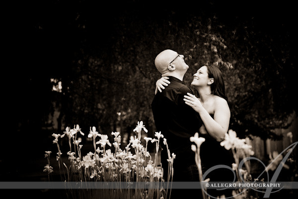 long-island-ny-engagement-session-home- bride and groom in the flowers
