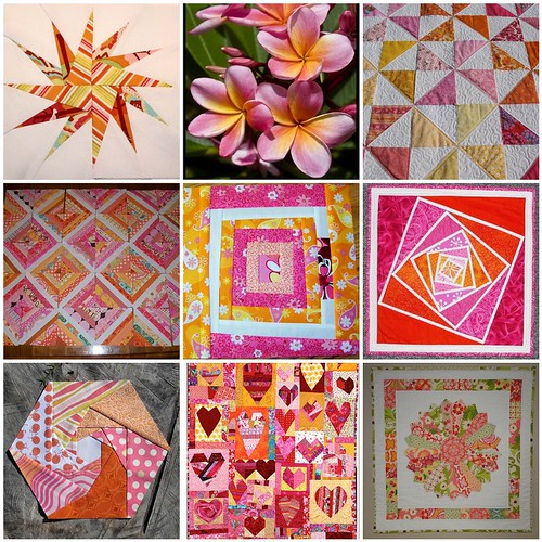 Pink & Orange Inspiration by Tina ~ Seaside Stitches