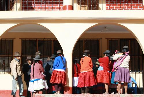 Huamanquiquia locals