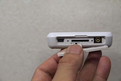 mini USBソケット