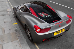 Red Highlights. (Alex Penfold) Tags: auto street camera red summer london cars alex sports car sport mobile canon silver photography eos grey photo high cool flickr shot angle image awesome flash picture super ferrari spot harrods arabic exotic photograph arab spotted hyper supercar spotting matte numberplate exotica sportscar qatar sportscars supercars gtr penfold grills sloane spotter 458 2011 hypercar