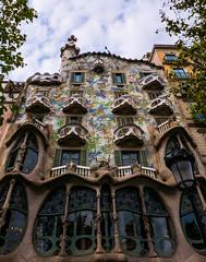 Antoni Gaudi's Casa Batllo Building (Barcelona Spain) (Panasonic Lumix LX100 Compact) (1 of 1) (markdbaynham) Tags: barcelona city spain spainish espana espanol urban metropolis historic famous anton gaudi building casa batllo ornate design catalan panasonic dmc lumix lumixer lx100 dmclx100 compact 2475mm f1728