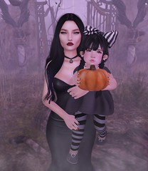 {.Honey.} ~ Little Darling ~ (Maggie0294) Tags: sl second life secondlife honey {honey} pose poses mother daughter addams family wednesday halloween ninetynine