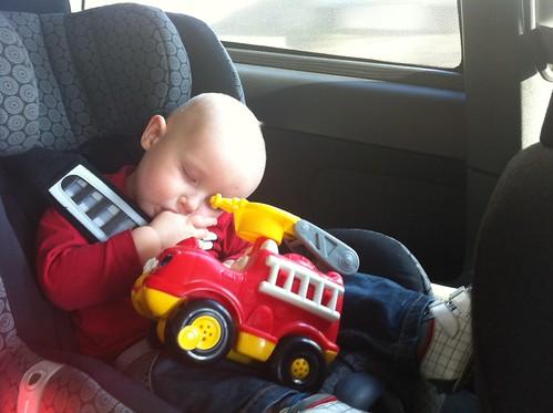 Thomas slaapt
