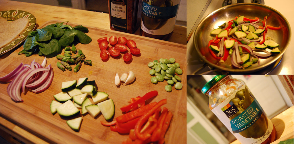 roasted veggie pizza step 1