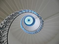Spiral Staircase (Tasmin_Bahia) Tags: blue light shadow sunlight white colour detail window stairs spiral pretty shadows bright steps fresh staircase walls railing simple magical