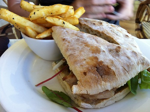 Chicken club with chips at the Teahouse in Nornalup