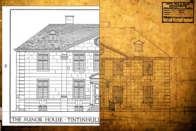 Tintinhull-House-Comparison-to-Charles-C-Case-House-SCALE-Cllay