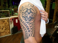 Tribal Tattoo (cirilo69serrano) Tags: blackandwhite tattoo arm tribal moseslake bradpayne coffincity