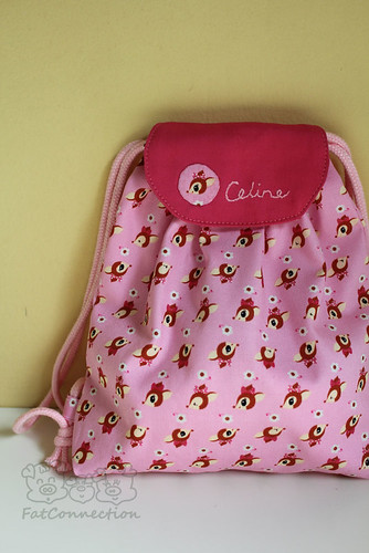 Drawstring bag - bambi deer (pink)