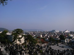 門脇小学校の坂の上から見た石巻 2009年9月