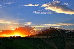 Sunset behind the hill (grazanna) Tags: sunset tramonto hill collina monteprandone
