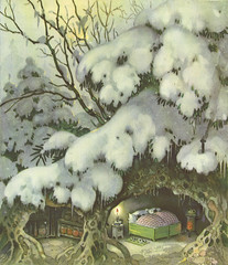 Erich Heinemann / Siebenpnktchen / Bild 10 (micky the pixel) Tags: winter vintage buch book bett ladybird childrensbook livre fairytales mrchen marienkfer kinderbuch fritzbaumgarten erichheinemann siebenpnktchen