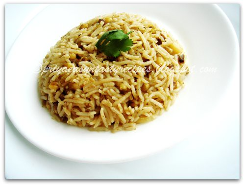 Greengram & Coriander Pulao