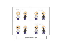 Bicurious (PTHumorRX) Tags: comics funny humor laugh curious erection bye comicstrips bicurious dailycomic humorrx