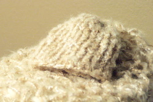 Toffee colored, knit newborn beanie by Ladybugs & Bullfrogs