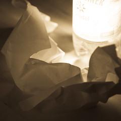 IP 123 - Bat Origami & Water (-masru-) Tags: paper bottle bat utata projects papier flasche kaiserslautern fledermaus projekte ironphotographer zenithelios442 utata:project=ip123 ip123