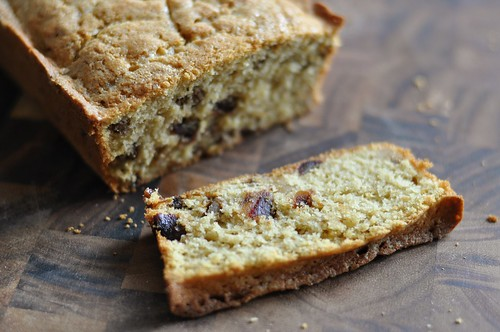 Date walnut bread slice