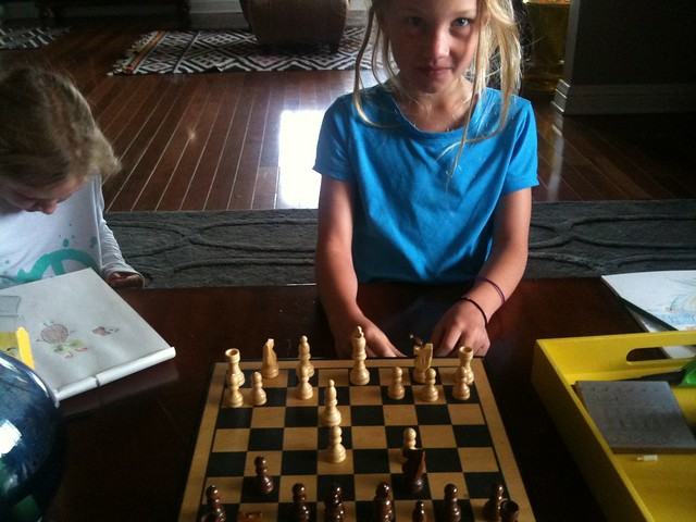 Playing chess with Emma