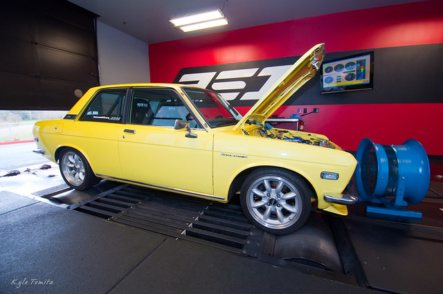KA-T Datsun 510 on the dyno at PSI