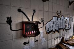 Marciano (Iñaki Couceiro) Tags: españa abandoned industry canon graffiti spain industrial grafiti country sigma alava 1020 industria basque vasco hdr euskadi fabrica vitoria pais slaughterhouse gasteiz abandonado matadero inundado awash poligono manufactures 400d jundiz