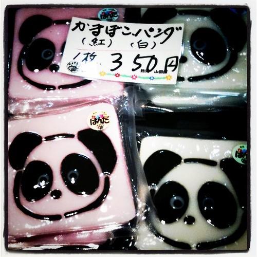 山田屋水産さんのパンダ?ゲット!かわいいね。子供達も喜ぶ
