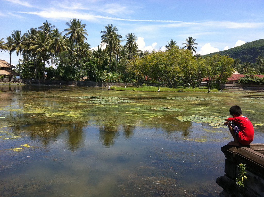 Boy by the pond, Candi Dasa, Bali