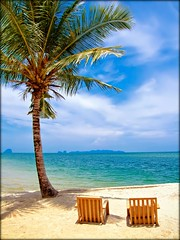 Sit Back and Relax ...  Andaman Coast | Southern Thailand (I Prahin | www.southeastasia-images.com) Tags: blue sea summer holiday beach umbrella relax thailand sand holidays paradise raw view chairs palm palmtree tropical limestone relaxation pakmeng beachchairs trang andaman andamansea anantara paradise anantararesort chairs sikao bestcapturesaoi elitegalleryaoi anantarasikao gettyimagessoutheastasiaq2