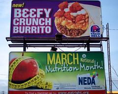 Great Combo (Brad Clinesmith) Tags: street pennsylvania billboard pa blackman tacobell nutrition neda wilkesbarre nationalnutritionmonth