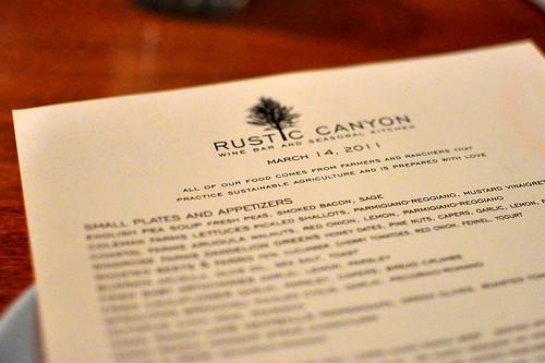 Rustic Canyon - Santa Monica